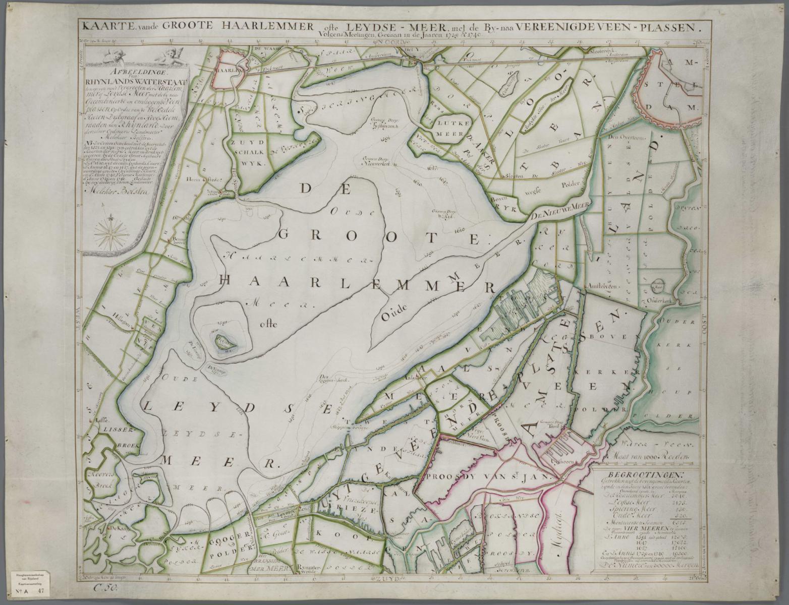 5. Bolstra Kaart Haarlemmermeer 1740