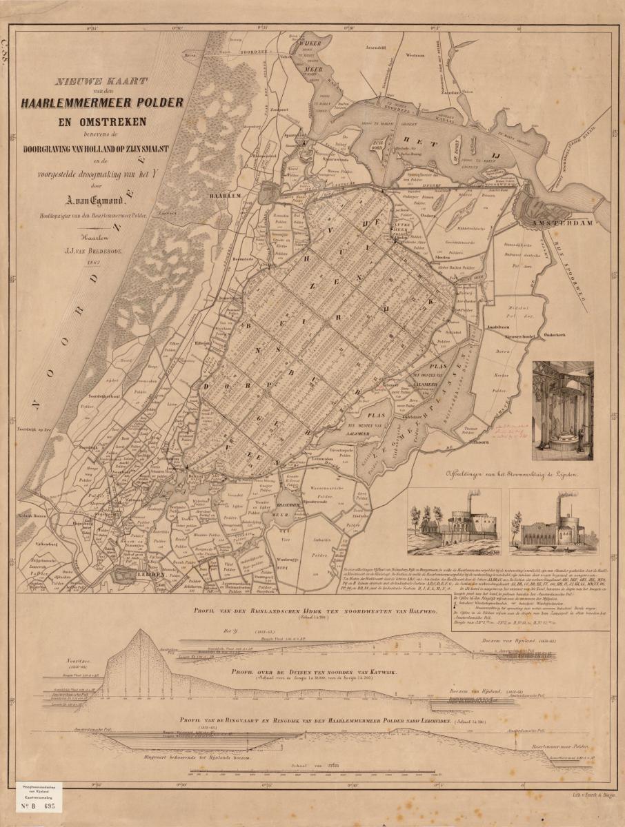 17. Nieuwe kaart Haarlemmermeer Polder 1867