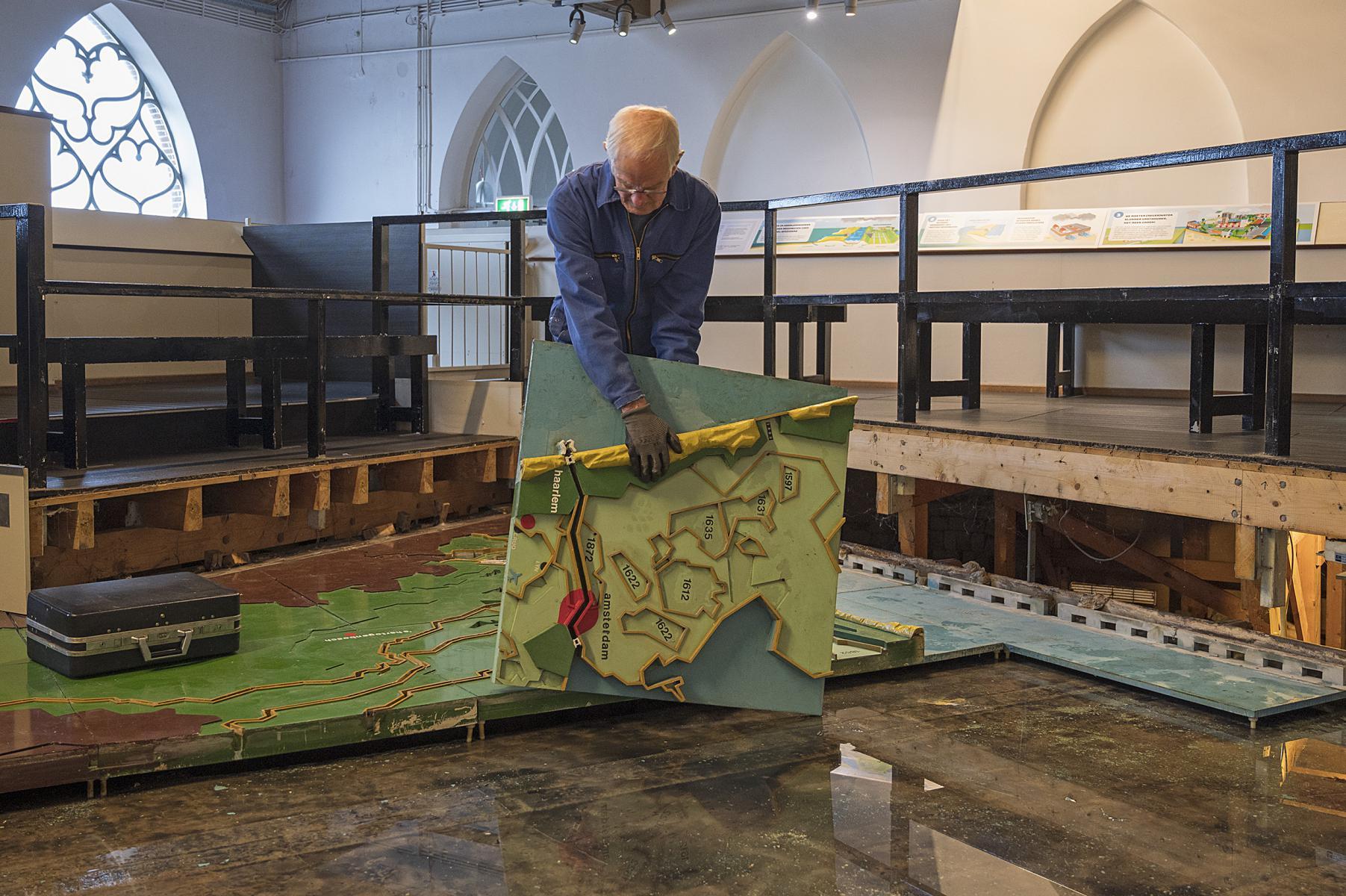 Februari 2020 Ontmanteling maquette - foto Kees van der Veer