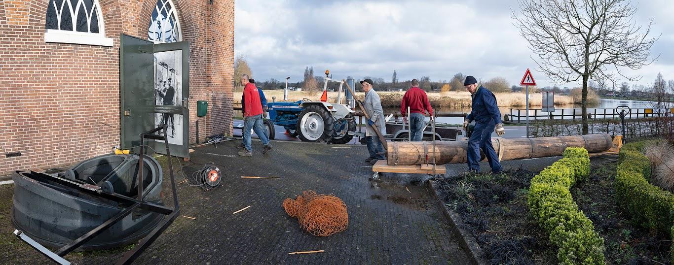 Afvoer naar Polderschuur - foto Kees van der Veer