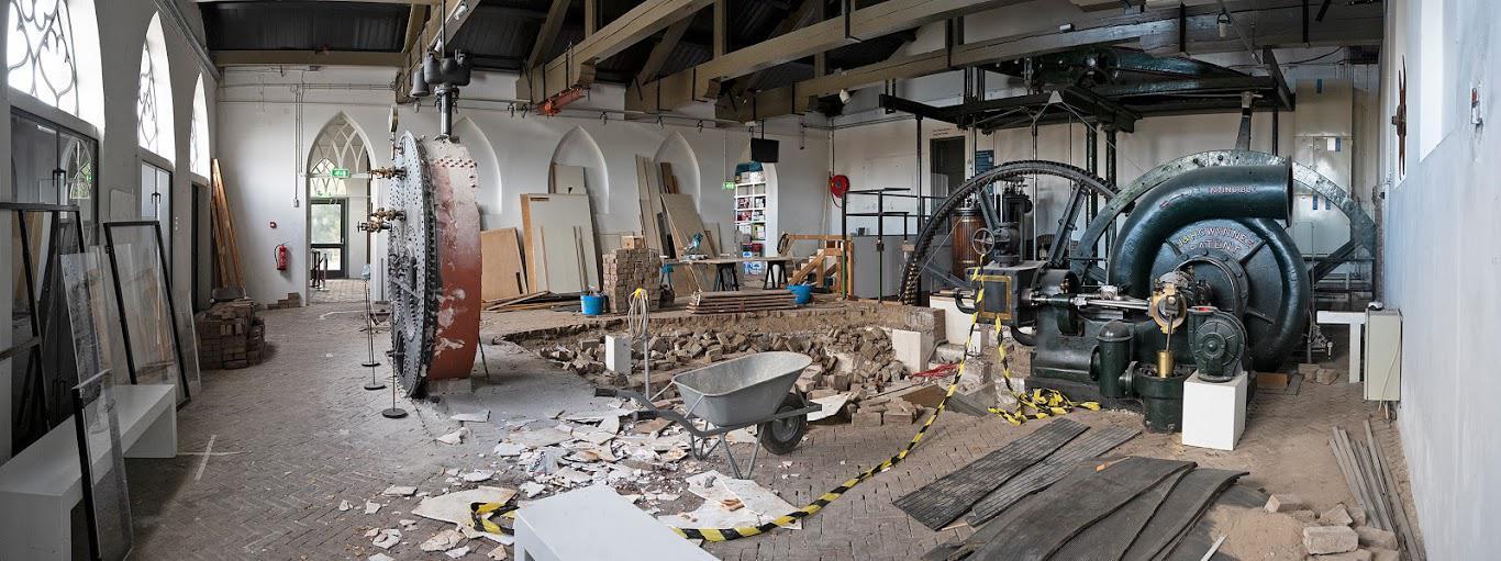 Egalisering vloer Ketelhuis - foto Kees van der Veer