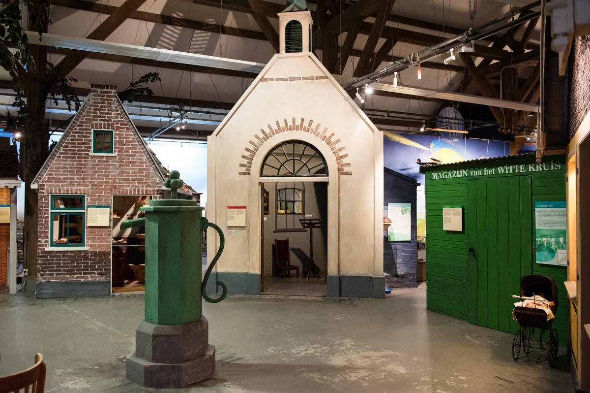 Het marktplein, het hart van het museum