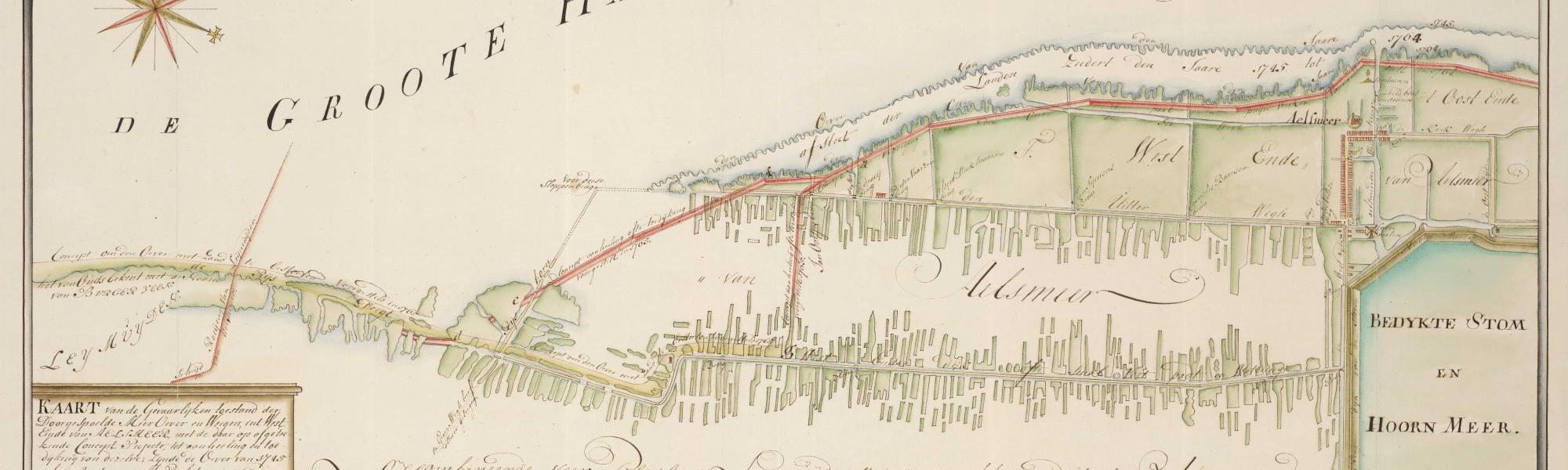 Westeinde kaart