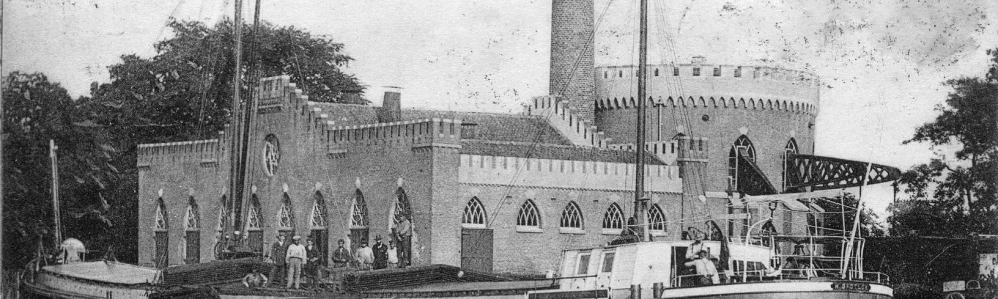 Historical image of pumping station Cruquius