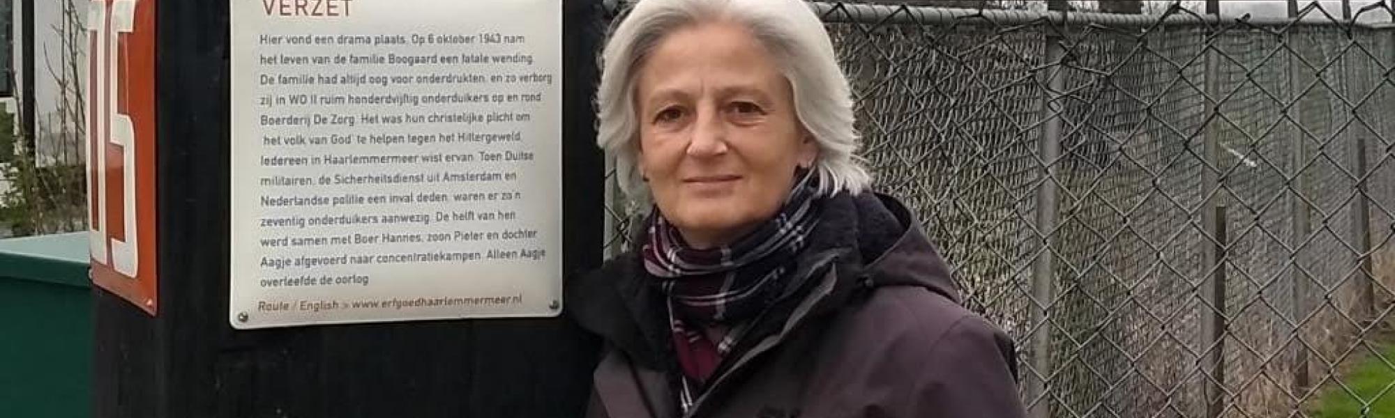 Mirjam Noach voor Verhalenpaal VERZET