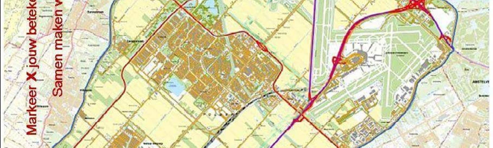 Plattegrond van Haarlemmermeer