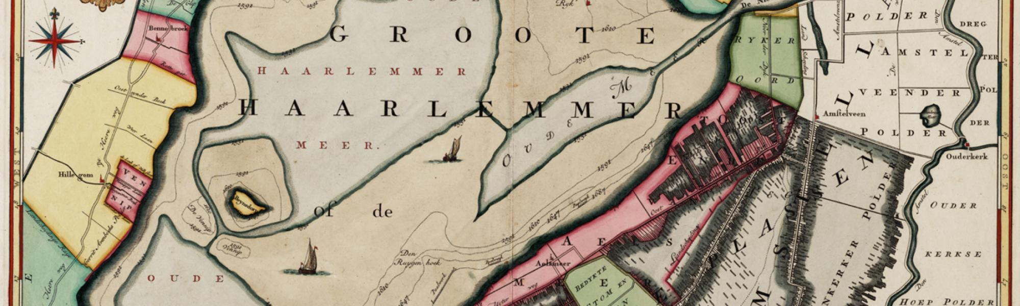 Historische kaart haarlemmermeer