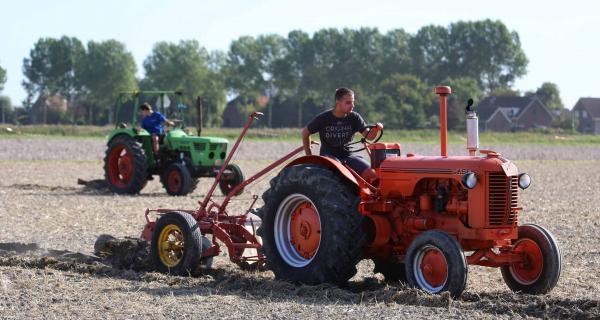 Landbouwmachines in actie