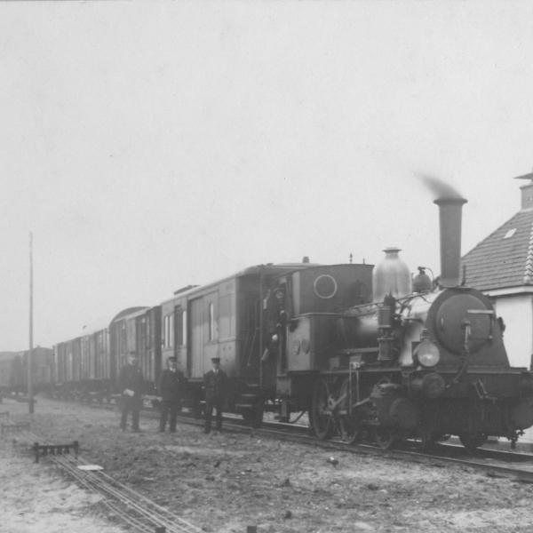 Historisch beeld van Haarlemmermeerspoorlijn
